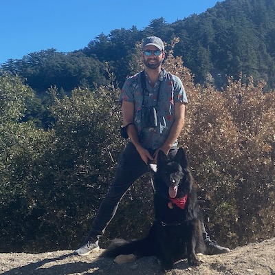 Image of Dr. Terrill and his dog Ani